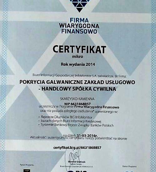 2 certyfikaty